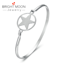 Bright Moon Charm Cuff Bracelet Vintage Bracelets Bangles for Women Star Moon Bangle Boho Indian Jewelry цена