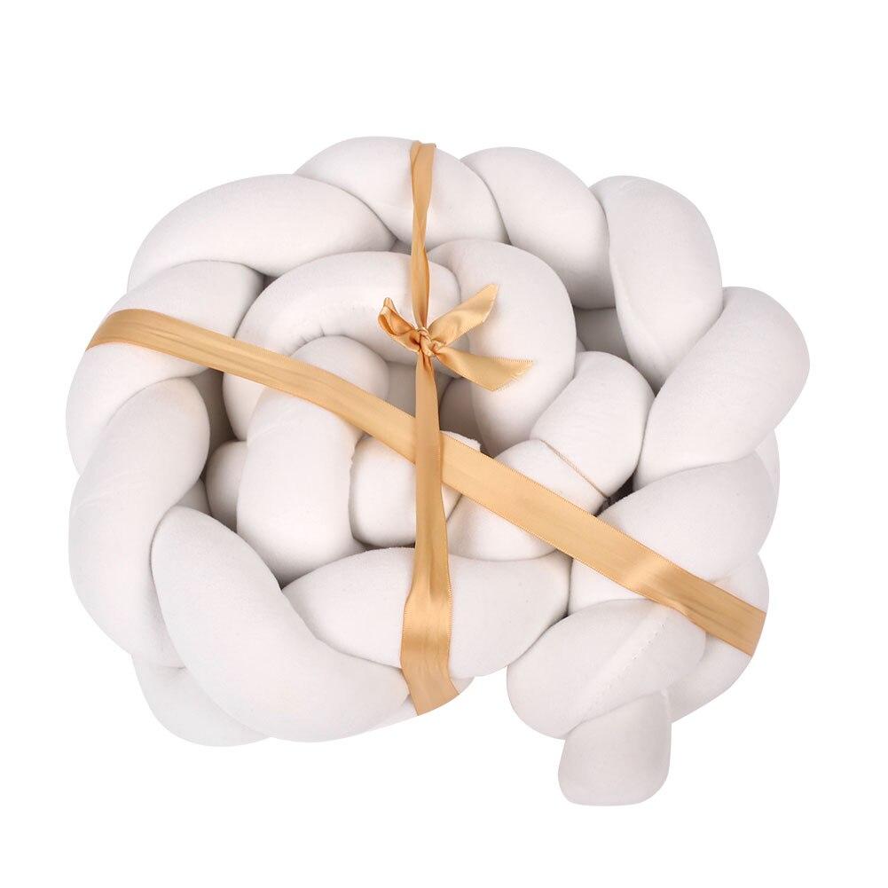 ПП хлопок белый/серый/синий/розовый постельные принадлежности кроватки бампер безопасный Диван Мягкая тесьма коврик Удобная наклейка для защиты от ударов детская подушка бампера - Цвет: white
