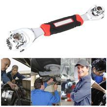 48 in 1 chiave a bullone multiuso chiave a bussola a 360 gradi chiave rotativa con bulloni scanalati utensile manuale per riparazione auto mobili
