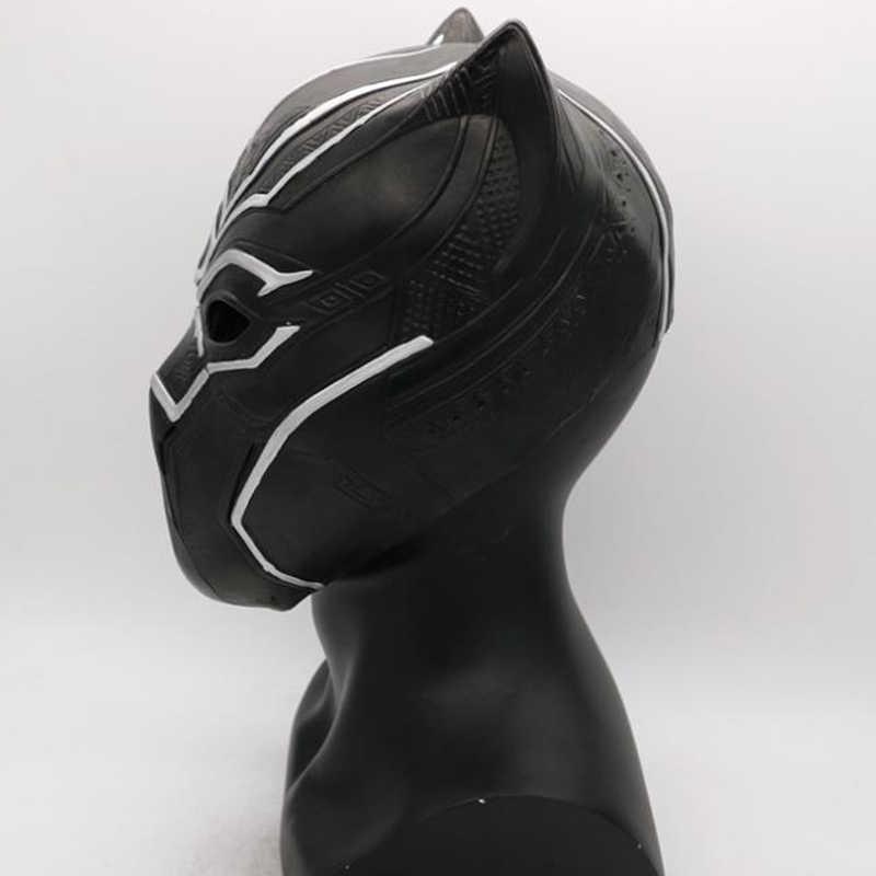 Черные маски Пантеры Косплей латексные костюмы фильм Фантастические мужские Вечерние Маски Новые