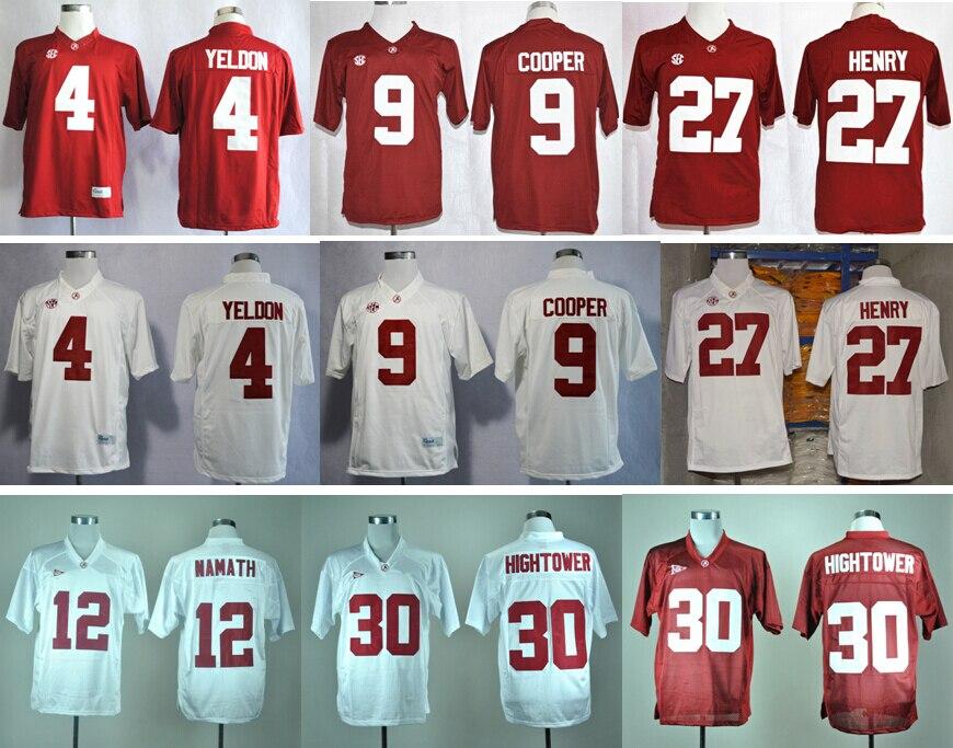 Namath White Women SEC Patch 2016 NCAA Stitched Jersey Alabama Crimson Tide  College ... cbffad385