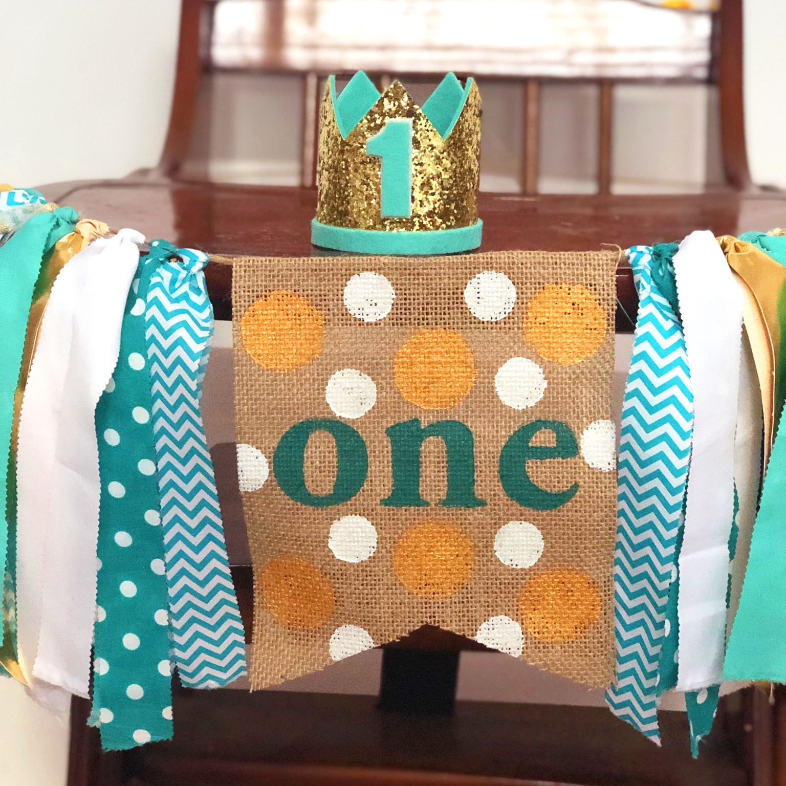 Free Shipping DIY Green Banner Birthday High Chair