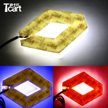 Tcart 1Set 9.4*7.5cm auto front Emblem lamps 4D logo light car badge sticker marker auto led logo lights For Koleos For Renault