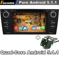 Car DVD Player Pure Android 5.1 Para BMW E90 E91 E92 E93 3 série Multimídia GPS DVB Rádio TV BT WIFI 3G câmera de Visão Traseira câmera