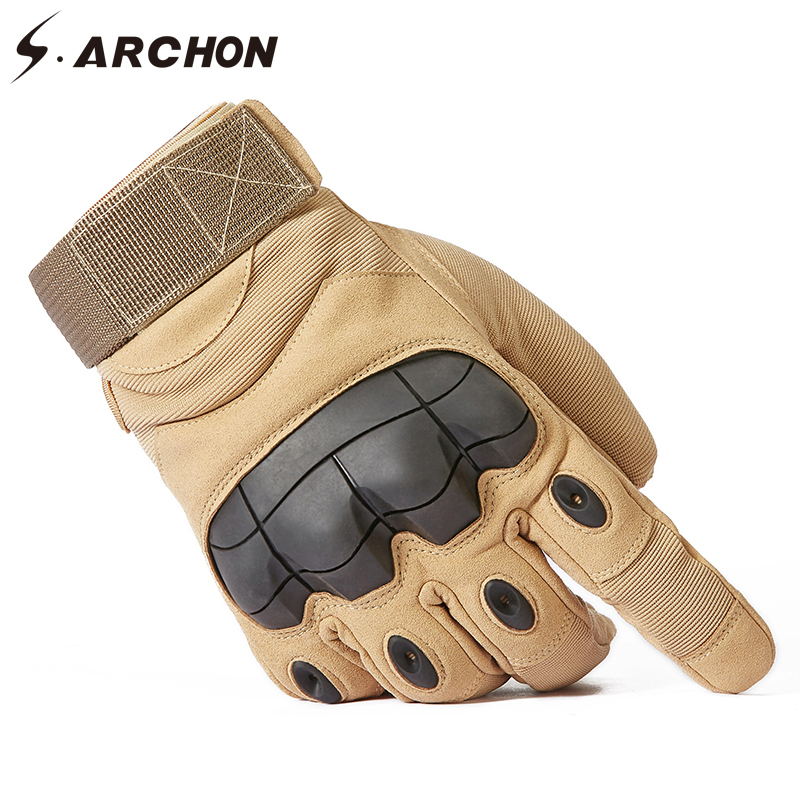 S.ARCHON Special Force SWAT Tactical Gloves Men Knuckle Protect Shooting Fight Military Gloves Full Finger Paintball Army Gloves
