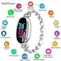 Frauen Smart Armband Herz Rate Blutdruck Monitor Fitness Tracker Smart Band IP67 Wasserdichte Intelligente Uhr Uhr Tracker-in Damenuhren aus Uhren bei