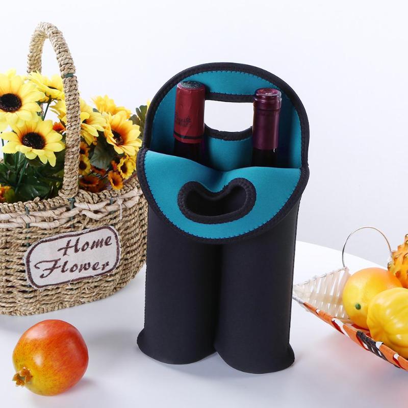 Portable 1/2 Bottles Neoprene Wine Bottle Freezer Bag Cooler Wine-bottle Bag Protect Insulated Cover Beer Cooling Holder Carrier