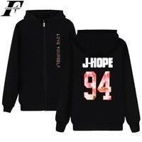 LUCKYFRIDAYF BTS Hoodie Sweatshirt Zipper BTS New Ablum LOVE YOURSELF Fashion Coat XXS 4XL Jacket Unisex