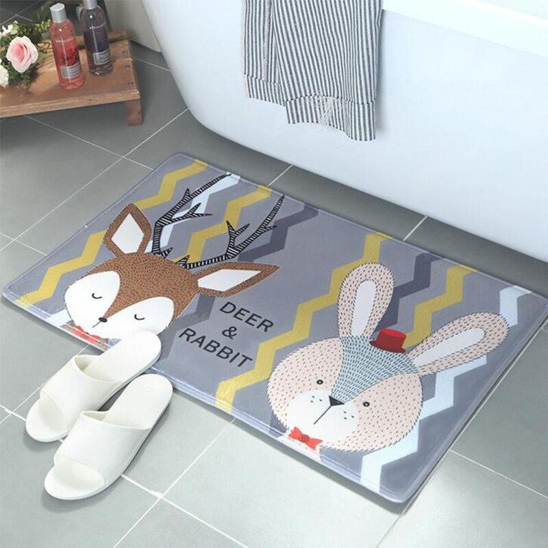 Rajzfilm velúr padló matrac a nappaliban aranyos nyúl róka medve - Lakástextil