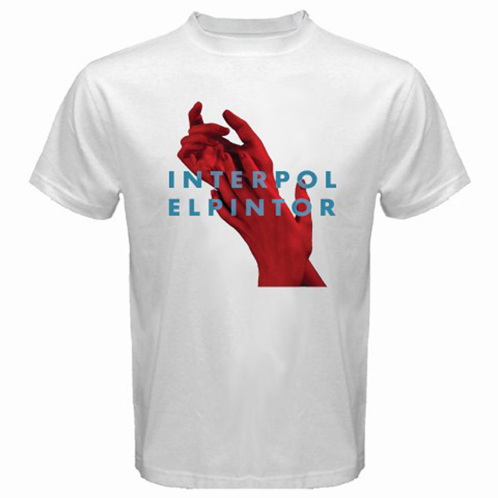 New Interpol Elpintor Rock Band Men's White T-Shirt Size S - 3XL