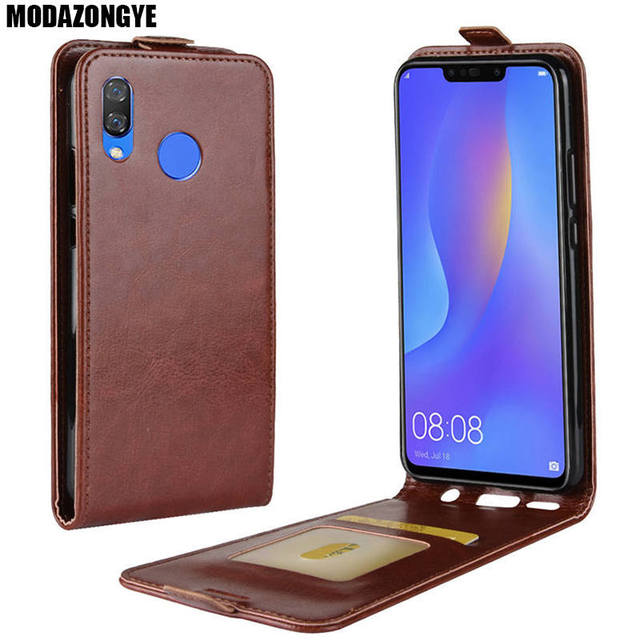 the latest 10fd4 dc374 US $3.78 10% OFF|Huawei P Smart Plus Case 6.3 Wallet PU Leather Back Cover  Phone Case Huawei P Smart Plus SmartPlus PSmart Plus+ P Smart+ Case-in Flip  ...