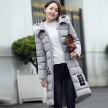 #2612 2016 Long winter jacket women Fashion Thick Slim With hooded Plus size 3XL Jaqueta feminina Parkas for women winter