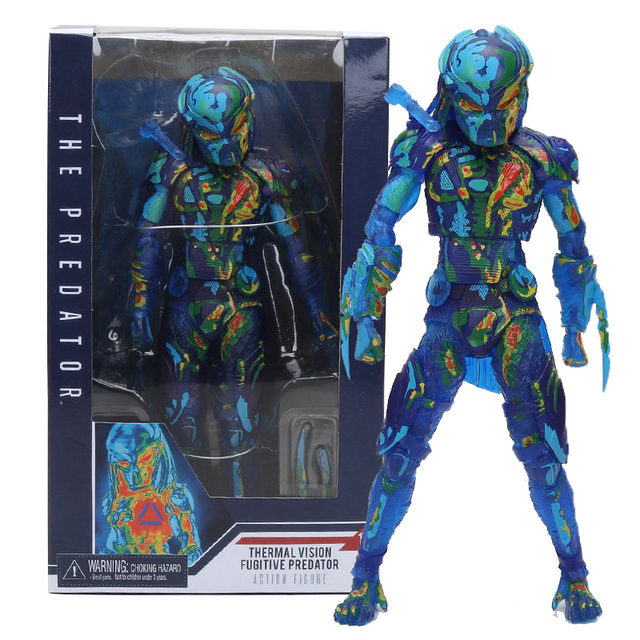 20 cm NECA O Predador Térmica Visão Fugitivo Predator PVC Action Figure Model Collection Toy Dolls Presente