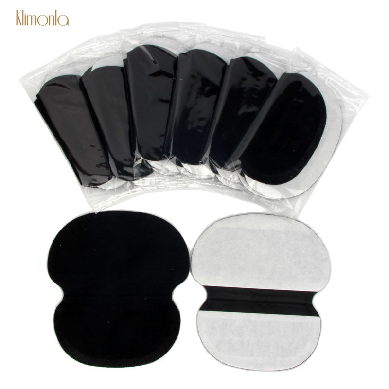 100Pcs Black Summer Underarm Absorbing Sweat Deodorant Armpit Antiperspirant Disposable Pads Dress Clothing Shield Perspiration