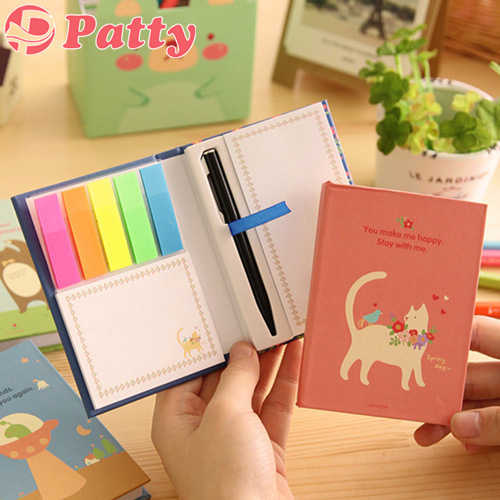 8 pcs/Lot Pastoral style Sticky notes Rainbow Post Removable adhesive paper stationery office material School supplies F711