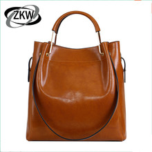 Genuine leather women's handbag shopping bag 2017 vintage wax cowhide picture package one shoulder cross-body handbag large bag mini circular genuine leather handbag vintage diamond lattice one shoulder cross body bag small round package women tassel bags