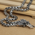 Handmade Thai 925 Silver Dragon Necklace for Men Vintage Dragon necklace