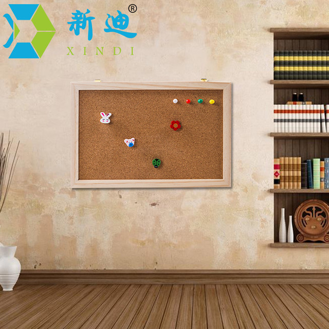 New 2018 Natural Wood Frame 20*30cm Bulletin Cork Board Office Supplier  Cork Pin Message Boards Home Decorative Free Shipping