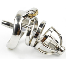 304 Stainless Steel Chastity Belt Penis Cage Cock Ring Sleeve Male Chastity Device With Urethral Catheter BDSM Sex Toys For Men stainless steel cock cage catheter sound urethral sound penis lock men chastity device sex toys