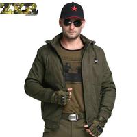Winter Jacket Men Casual Slim Solid Tactical Outerwear Pockets Zipper Mid Length Hooded Mens Winter Warm