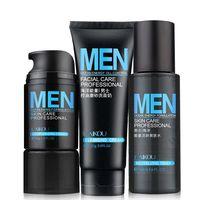 Cosméticos Conjunto Hidratante Crema/Limpiador Facial de Tóner Fabricantes Empaquetado Independiente 3 unids/set Hombres