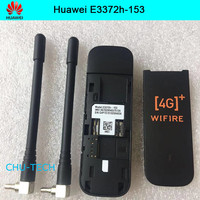 Unlocked Huawei E3372 E3372h 153 with antenna 4G LTE Dongle Mobile Broadband USB Modems 4G Modem LTE Modem