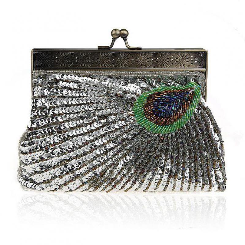 2018 Women Noble Elegant Evening Bag Upscale Socialite Beads Sequins Cosmetic  Bags Gorgeous Bling Vintage Handmade Makeup Bags-in Cosmetic Bags   Cases  from ... db0d7c81c047
