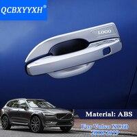 QCBXYYXH ABS 4pcs Lot Car Styling Car Door Handle Cover Box Sequins Decoration Handle Bowl Frame