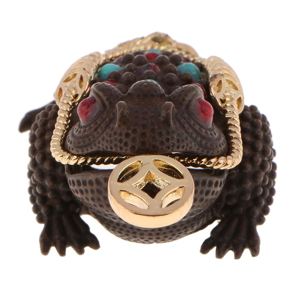 Nieuwe Mode Traditionele Chinese Feng Shui Lucky Geld 3 Benen Pad Kikker Wierookbrander Bevestigen Geld Golds Fengshui Beeldjes