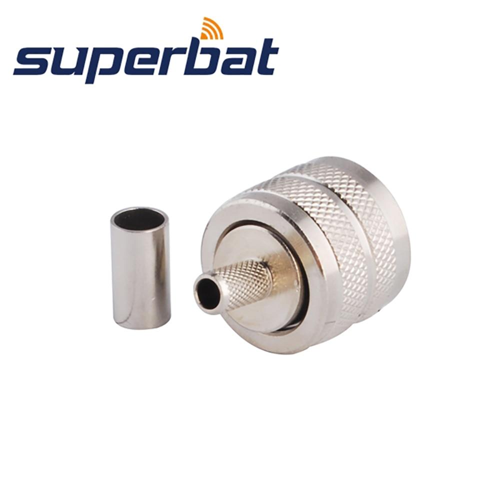 Mini UHF male to UHF male PL259 PL-259 plug RF RG400 M17//128 Coax Coaxial Cable