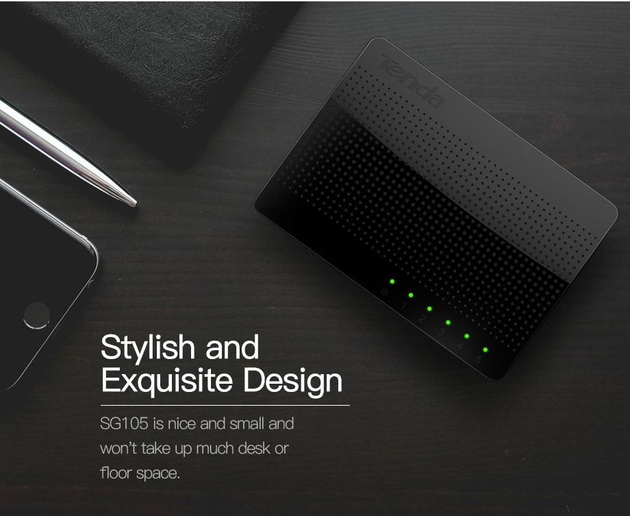 Tenda SG105 Gigabit Mini 5-Poort Desktop Switch Fast Ethernet Network Switch Lan Hub RJ45 Ethernet En Switching Hub shunt 14