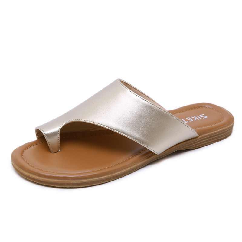 SIKETU Verão mulheres casual Confortável Respirável Chinelos Planas mulher flip flop sapatos de praia mulher moda sapatos fundo Macio