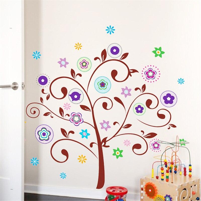 1PC Autocollant Mural 3D Arbre À faire soi-même Acrylique Art murale amovible Home Room Decor