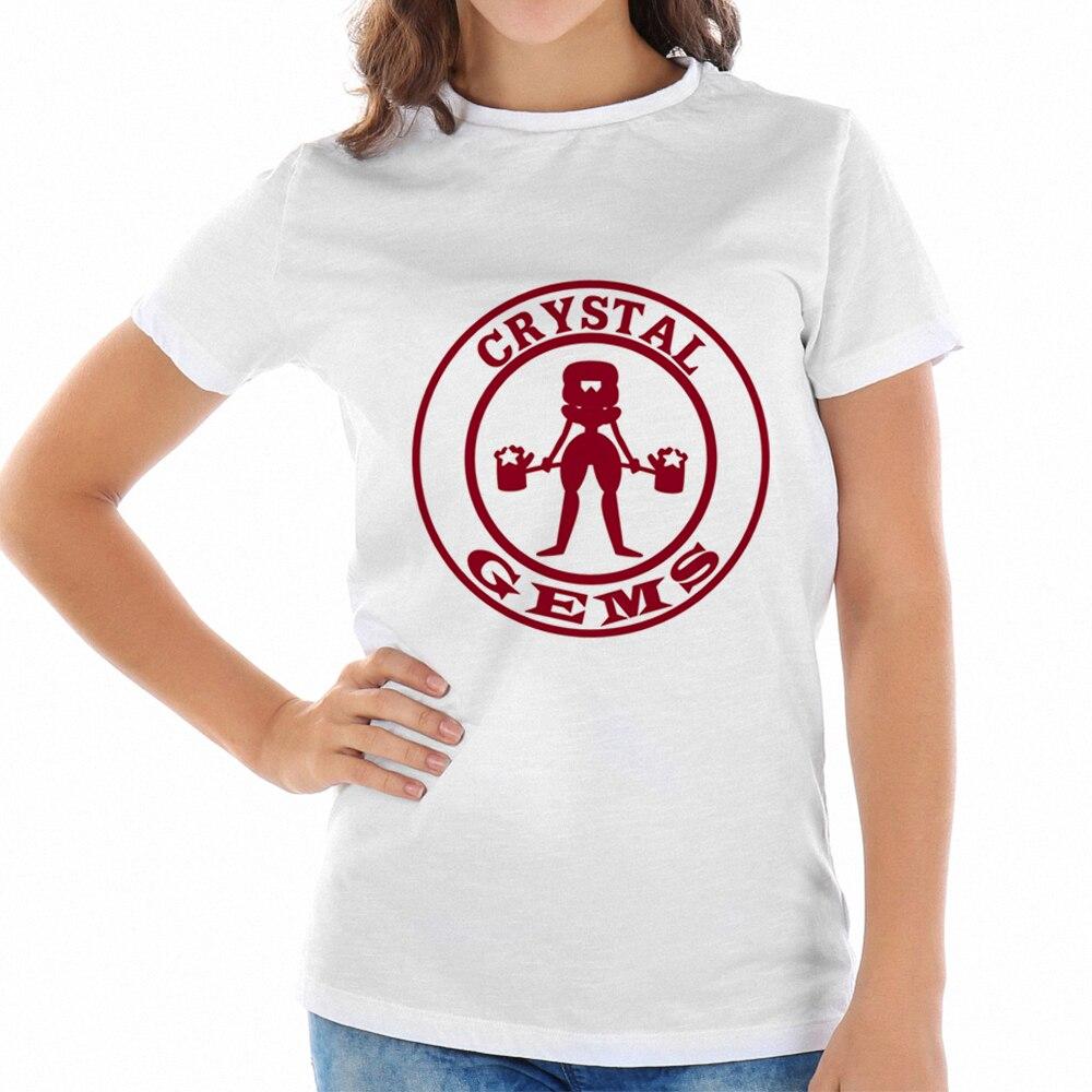 2018 Summer Korean Women T Shirt Street Wear Summer T-shirt Punk Print Crystal Gems Tees Hipster Boys White Shirt