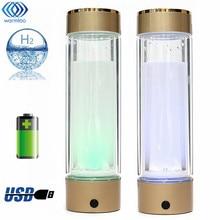 Bouteilles d'eau Intelligente Riche En Hydrogène Ioniseur Portable USB Rechargeable En Verre Fabricant Ioniseur Générateur 350 ML Super Antioxydants