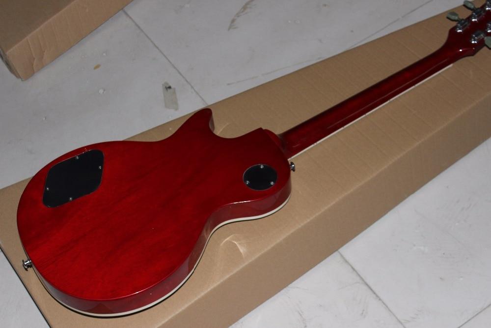 Hot Sale LP tiger guitar striped maple cover, Slash guitar signature on headstock high quality Custom shop