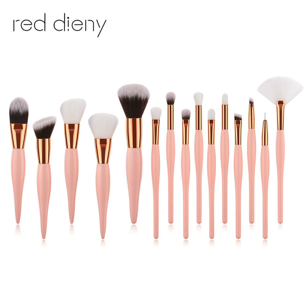 15 Pcs /Set Professional Cosmetic Makeup Brushes Tools Kit High Quality Soft Synthetic Hair Lady Beauty Make Up Brushes Kit 10 pcs soft synthetic hair make up sets