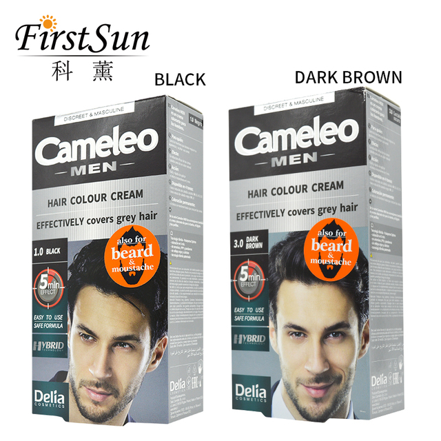Aliexpress.com : Buy Cameleo Men Mustache & Beard Color Cream Dark ...