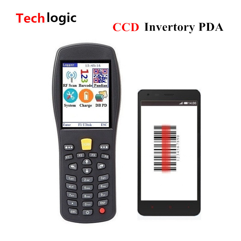 Techlogic Q7 CCD Wireless Inventory Barcode Scanner Code Reader Hand Terminal PDA Supermarket and Warehouse Portable Bar Gun techlogic x3 wireless barcode scanner inventory bar code scanner handheld terminal pda laser barcode reader bar code gun