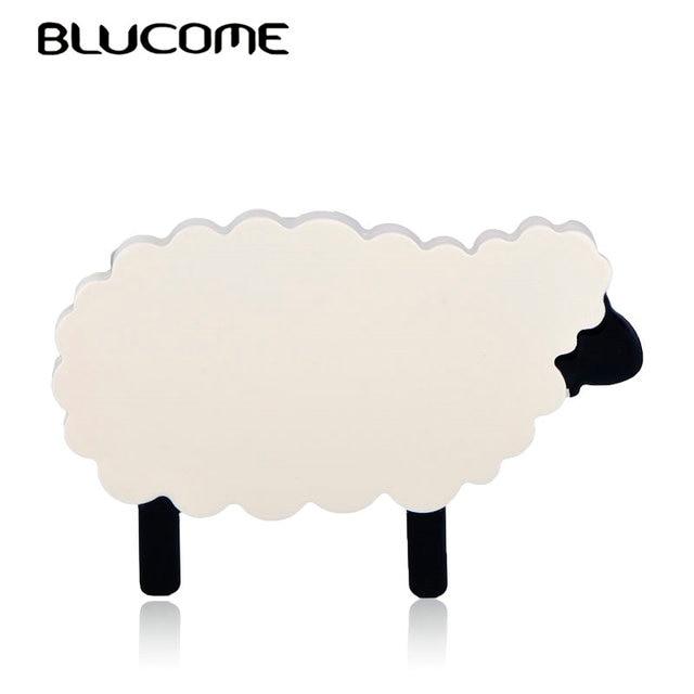 Blucome Fashion Cartoon Large Sheep Alpaca Brooch Acrylic Jewelry Animal Shape Badge Women Girl Child Bag Scarf Pins Accessories