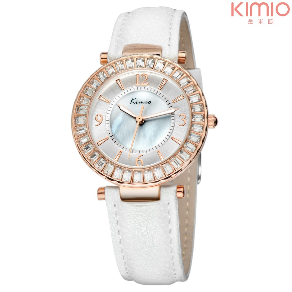 Подробнее о Kimio luxury brand watch women leather belt Rhinestone crystal ladies quartz-watch montre femme Analog women's wrist watches 2017 hodinky kimio brand fashion women analog quartz watch luxury ladies pearl crystal wrist watch relojes mujer montre femme