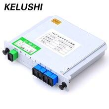 Kelushi sc/upc 1x4 módulo plc fibra óptica divisor caixa sc conector ferramenta de fibra plc divisor de fibra dispositivo de ramificação de fibra