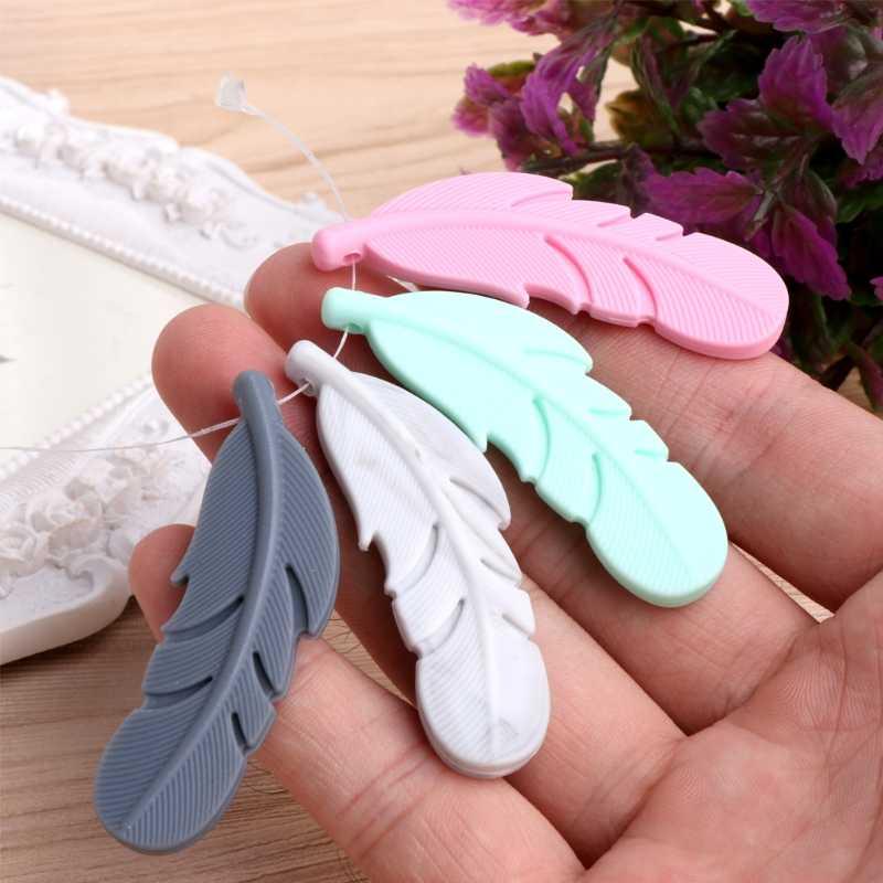 Кулон для кормящих перьев детский силиконовый Прорезыватель сажа жевательная игрушка ожерелье-прорезыватель