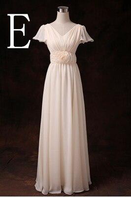 Новое поступление Формальные подружек невесты женские летние скромные платья подружек невесты Одежда с рукавами для свадебной вечеринки длинные H2743 - Цвет: E