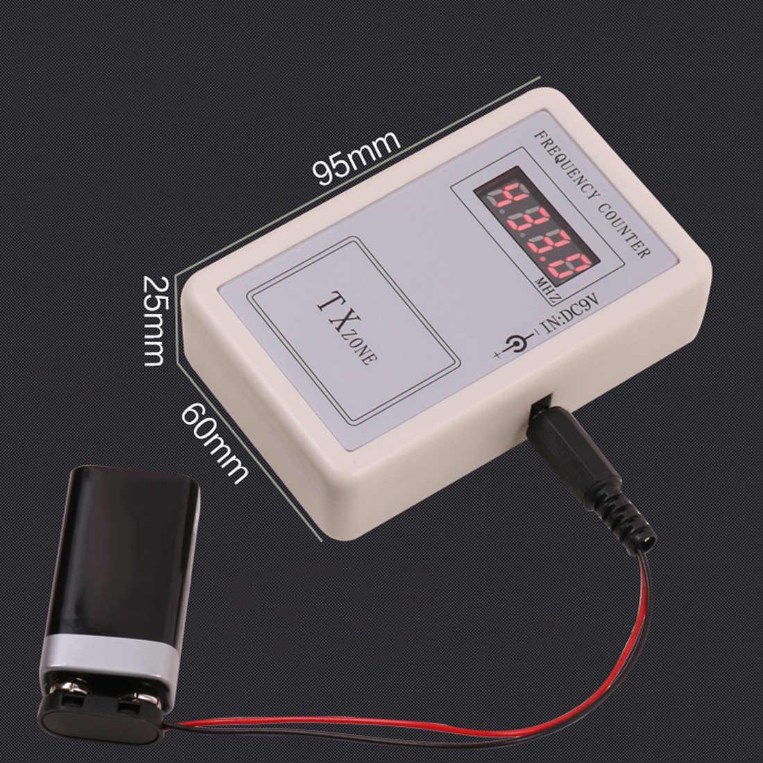 DC7.5V-12V pilot bezprzewodowy miernik częstotliwości licznik dla samochodu Auto Key pilot detektor Cymometer kabel zasilający