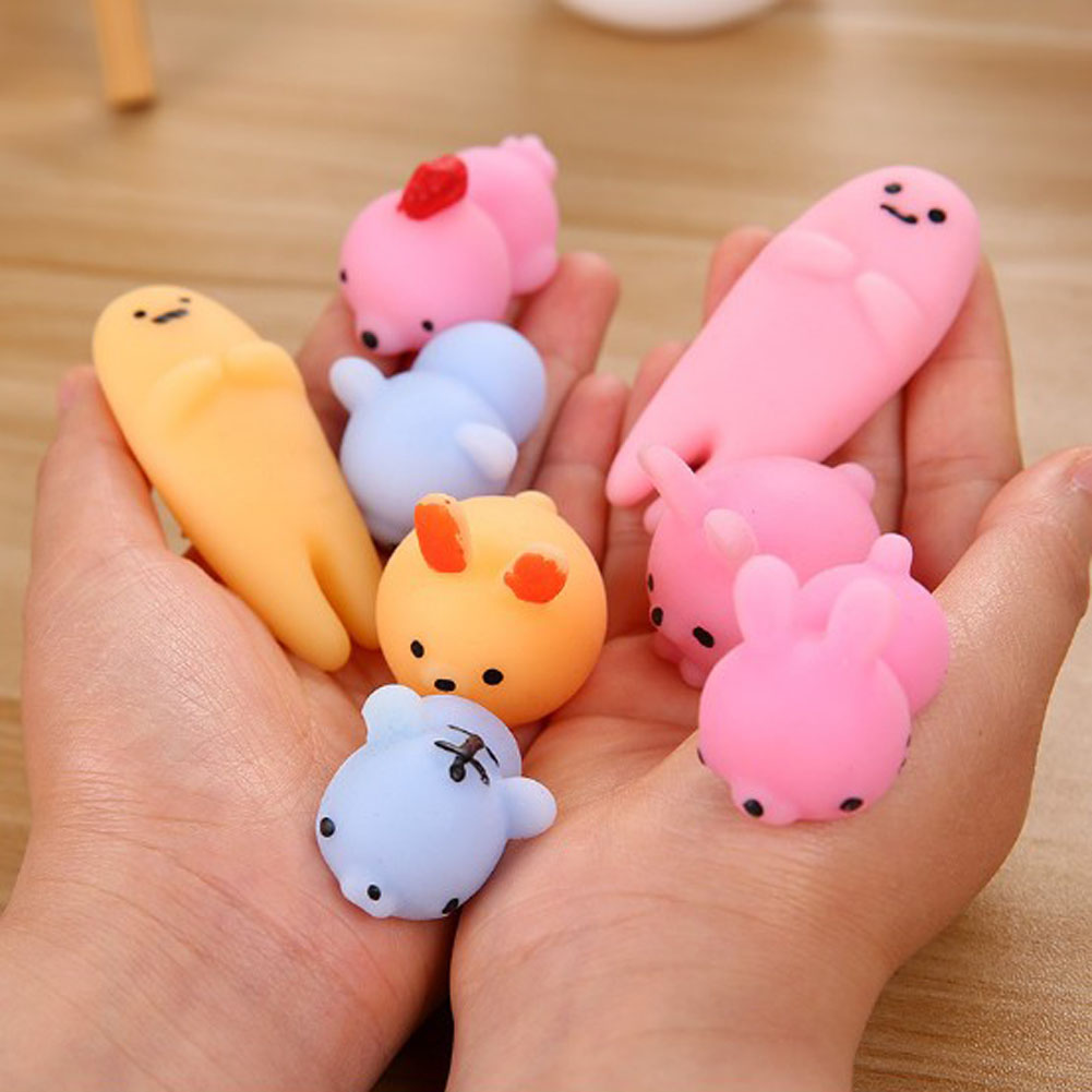 Color and Pattern Random!!!Cute Lazy Egg Squeeze Healing Fun Kids Kawaii kids Adult Toy Stress Reliever Decor