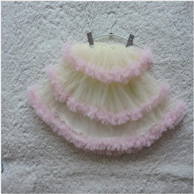 2016 новорожденных девочек тюль кружевной юбки дети девочка весна торт юбка девушка принцесса юбки детская одежда детской одежды