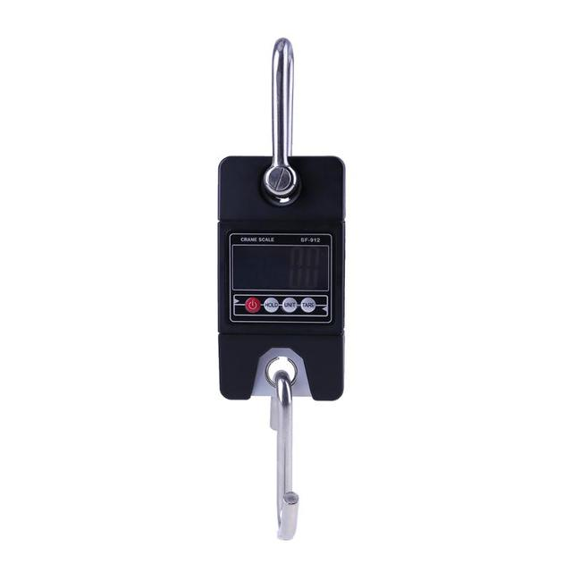 Mini Portable LED Display Hanging Scale 300kg/0.1kg Heavy Duty Electronic LCD Digital Hook Scale Balance Weight