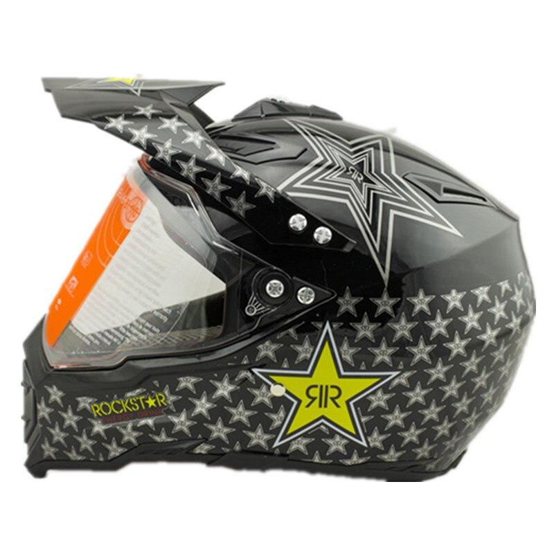 Vcoros Rockstar мотокросс шлем мотогонок шлемы КАСКО шлем Capacete ATV Байк бездорожье шлем с объективом в горошек