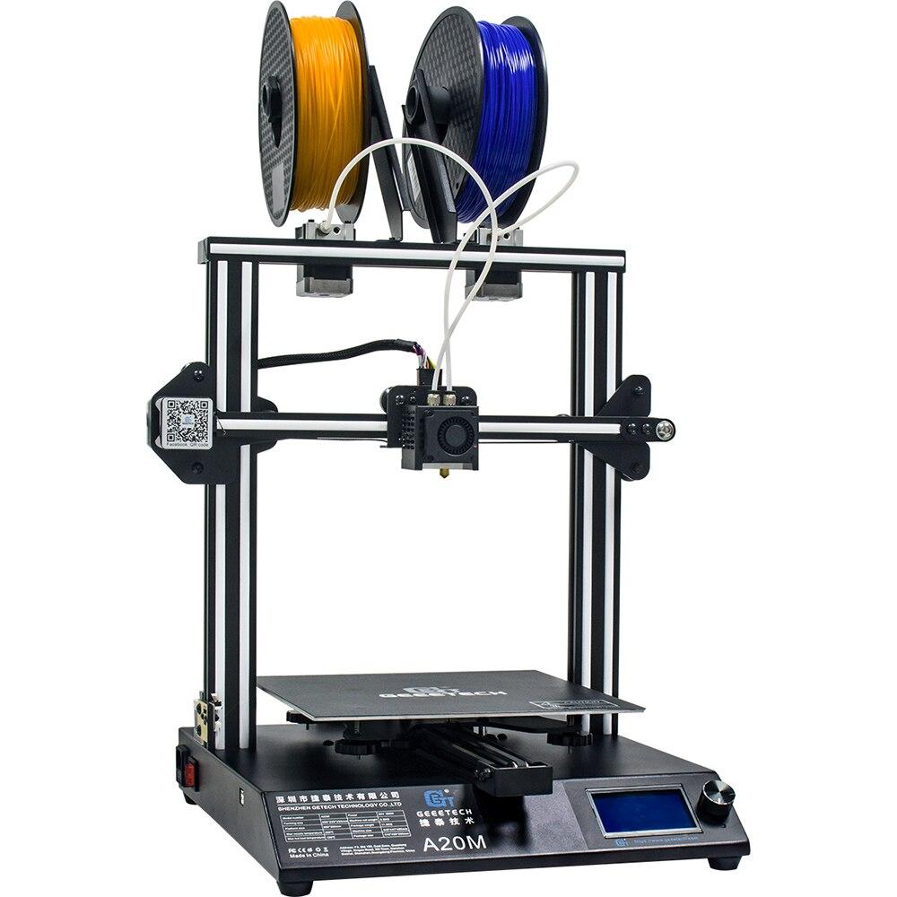 Impresora GEEETECH A20M 3D con impresión a Color, Base de construcción integrada y diseño de extrusora doble y Detector de filamentos - 6